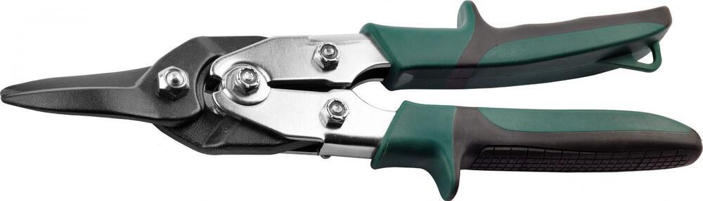 """Ножницы по твердому металлу KRAFTOOL """"SUPER-Kraft"""" 260мм, прямые, с двойн рычаж передач,Cr-MO, режущ способн: холоднокат сталь-1,5мм, нерж сталь-0,9мм"""
